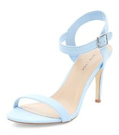 - Textured front strap- Open toe- Ankle strap design- Heel height: 3.5