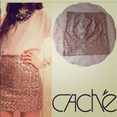 NWT Cache Sequenced Skirt! Never worn. Cache brand sequenced skirt Skirts Mini