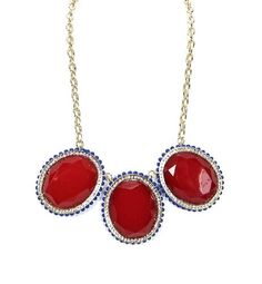 WOMEN FASHION GORGEOUS 3 CIRCLE BEADED STATEMENT NECKLACE by shopluvmeTake for me to see WOMEN FASHION GORGEOUS 3 CIRCLE