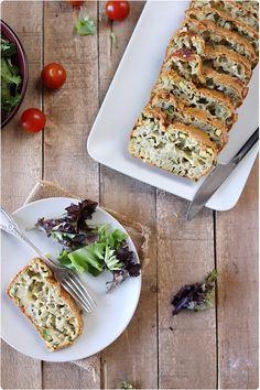 Cake à la courgette, menthe et mozzarella