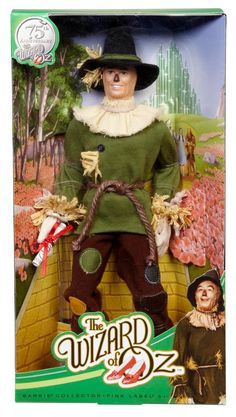 Amazon.com: Barbie Collector Wizard Of Oz Scarecrow Doll: Toys & Games