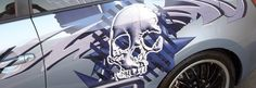 Scion skull vehicle graphic by Lines and Designs of Las Vegas
