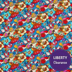 Liberty Lifestyle Craft Cotton Fabric Catherine Rich Red Blue 112cm