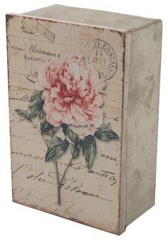Altered Box Decoupage Box, Decoupage Vintage, Vintage Crafts, Tin Flowers, Vintage Flowers, Altered Boxes, Cigar Box Art, Creative Box, Recycled Crafts