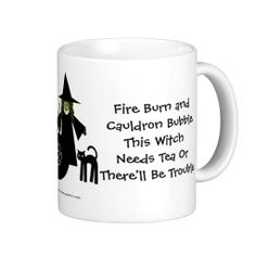 This Witch Needs Tea! Tea-addicts Cup/Mug by www.cheekywitch.com #zazzle #witch #wicca #wiccan #pagan #cheekywitch #tea #teacup