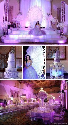 16 Centros de mesa e ideas de decoración para fiesta de 15 años