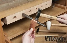 Build an Under-bench Mandrel Holder | Art Jewelry Magazine