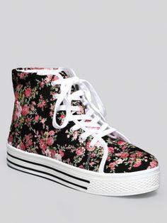 Floral High Top Sneaker_Gypsy Warrior