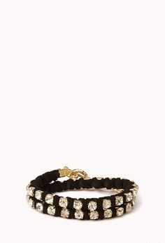 Wrap-Around Rhinestone Bracelet | Accessories | Women - 1042795573 | Forever 21 EU