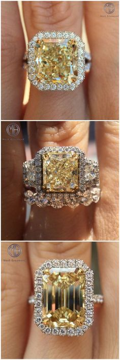 Fancy Yellow Diamond Rings Follow @markbroumand