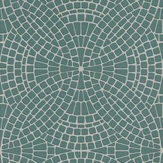 Mosaic Teal (40128) - Albany Wallpapers - A textured blown vinyl wallcovering featuring an all over, mosaic tile design. Shown here in metallic teal and grey. Other colourways are available. Please request a sample for a true colour match.