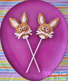 Easter Bunny S'more Pops #toocute from @Jill Mills (KitchenFunWithMy3Sons)
