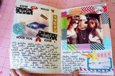 Cute washi tape frame! :) Washi Tape Frame, Washi Tape Crafts, Paper Crafts, Book Journal, Daily Journal, Art Journals, Tapas, Rainbow Rowell, Journal Inspiration