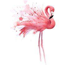"""Flamingo"" Watercolor Art Print Signed by Artist DJ Rogers"