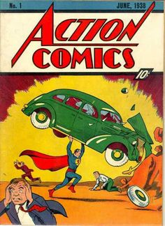 5 Things You May Not Have Known About Superman! In June the original comic book series Action Comics was introduced with Jerry Siegel and Joe Shuster biggest creation, Superman! First Superman, Superman Action Comics, Superman Comic Books, Comic Book Superheroes, Dc Comic Books, Vintage Comic Books, Batman Vs Superman, Comic Book Covers, Vintage Comics