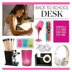 """Back to School Desk"" by lgb321 ❤ liked on Polyvore featuring interior, interiors, interior design, home, home decor, interior decorating, Beats by Dr. Dre, Vera Bradley, Disney and Fringe"