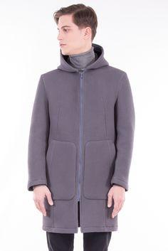 Neoprene Longline Hooded Jacket