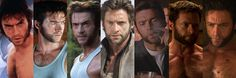 Hugh Jackman Has Played Wolverine A LOT - From L to R: X-Men, X2, X-Men: The Last Stand, X-Men Origins: Wolverine, X-Men: First Class, The Wolverine, X-Men: Days of Future Past.