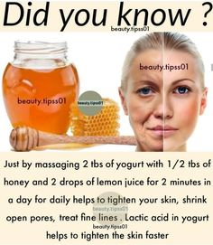 Beauty Tips With Honey, Beauty Tips For Glowing Skin, Natural Beauty Tips, Health And Beauty Tips, Natural Skin Care, Beauty Skin, Natural Facial, Organic Skin Care, Clear Skin Face