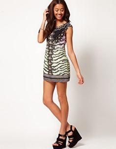 Enlarge River Island Zebra Print Shift Dress