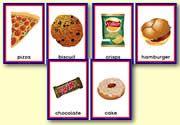 Unhealthy Food Sorting Cards: zelf Ned. tekst toevoegen