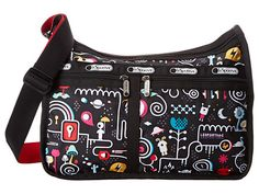 """Years before I had the baby, my friends referred to my LeSportsac Deluxe Everyday Bag as my """"diaper bag."""" The joke really is on me, because I recently discovered it's the perfect size for on-the-go baby stuff. Save some $$ and look for them at stores like Ross and TJMaxx."""