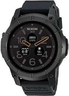 Nixon Mission Action Sports Smartwatch A1167. 10 ATM Water Resistant and Shock Resistant Men's Watch (48mm. Silicone Band)3.2 out of 5 stars 118 customer reviews| 87 answered questionsPrice: $399.95 & FREE Returns