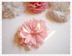 nice variation on crepe paper flower diy