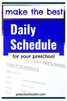 It's easy to build your daily schedule with these simple suggestions. Create a schedule that delivers the hands-on activities and events that support your early learning goals. #preschool #prekteacher Learning Goals, Early Learning, Daily Schedule Preschool, Preschool Programs, Hands On Activities, It's Easy, Lesson Plans, Teaching Resources, Curriculum