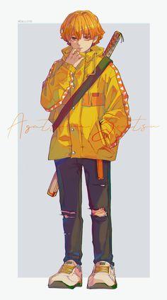 Kimetsu no Yaiba Zenitsu Ange Anime, Anime Angel, Otaku Anime, Anime Guys, Anime Art, Demon Slayer, Slayer Anime, Demon Manga, Motivation Diet