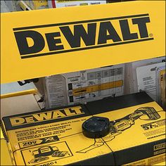 DeWalt Guaranteed-Tough Corrugated Display Tractor Supply Company, Cross Selling, Retail Fixtures, Point Of Purchase, Tractor Supplies, Hooks, Display, Yellow, Color
