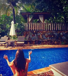 Relax by the pool after a great hike #cambodia Id you want to mix some cool beach time and hiking in Cambodia I really recommend to explore Kep #wild #nature #asia Soon on my #travel website you will find all you need to know about this place #travelblogger #traveltips ������ #travelgram #ocean #instatravel #explore #beach #travelphotography #femaletravelblogger #yoga #relax http://tipsrazzi.com/ipost/1503624132250660439/?code=BTd8i6GgW5X