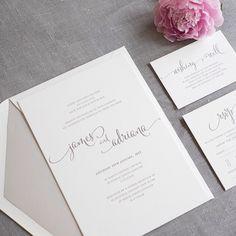 Wedding invitations letter press
