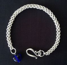 Sterling silver chainmaille bracelet. Chainmail by LadyofAlbionArt