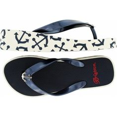 Anchors Away Ahoy Platform Flip Flop | Brighton