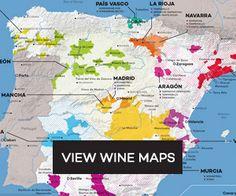 12x16 Regional Wine Map Prints