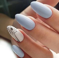 Nail art is one of many ways to boost your style. Try something different for each of your nails will surprise you. You do not have to use acrylic nail designs to have nail art on them. Here are several nail art ideas you need in spring! Blue Nails, White Nails, Nail Designs Spring, Nail Art Designs, Nails Design, Acrylic Nail Designs, White Nail Designs, Nailart, Cute Spring Nails