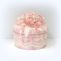 Pink and Ivory Lace Cottage Chic Box