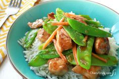 Lean and tasty sautéed chicken and snow peas recipe!