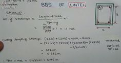 How to compute cutting length and weight of lintel steel