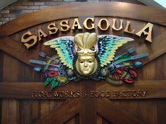 Sassagoula Food Court Sign
