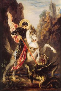 1890 st. George and Dragon  (by Gustave Moreau)