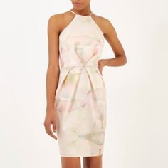 Robe moulante imprimée rose à fines bretelles - robes de soirée - robes - femme