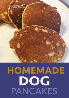 Homemade Dog Pancakes - Whether you buy store-bought food or cook healthy recipes for your pup, this homemade protein pancake recipe for dogs is super easy and delicious! The best way the important a number of orders save day-to-day lives Easy Homemade Pancakes, Homemade Dog Cookies, Homemade Dog Food, Easy Dog Treat Recipes, Healthy Dog Treats, Doggie Treats, Pumpkin Dog Treats, Dog Biscuit Recipes, Dog Food Recipes