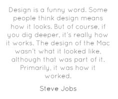 Design is a funny word #quotes #stevejobs