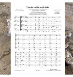 Josquin des PRÉS  (DESPREZ ) : Tu solus qui facis mirabilia  - Musique de la Renaissance pour choeur à 4 voix mixtes.  Editions Musiques en Flandres  - référence  : MeF 776
