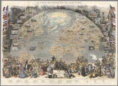 David Rumsey Historical Map Collection | Le Tour de Monde en un Clin d'Oeil. Supplement du numero du Monde du la 1er. Janvier 1876