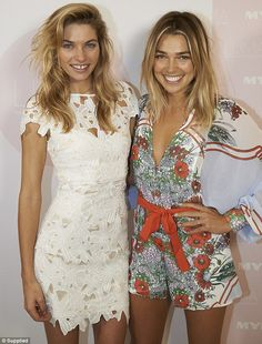Hart to Hart: Jessica Hart was joined by her sister Ashley as she launched her cosmetics r...