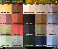 LastiSeal Stain Earth Color Pallet