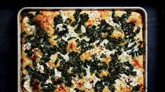 Feel free to substitute other types of kale, such as curly or Red Russian in this pizza, but make sure to pre-dress and massage the leaves.